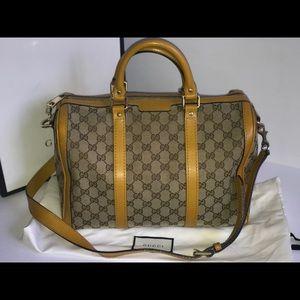 Authentic Gucci Boston Bandouliere speedy bag tote